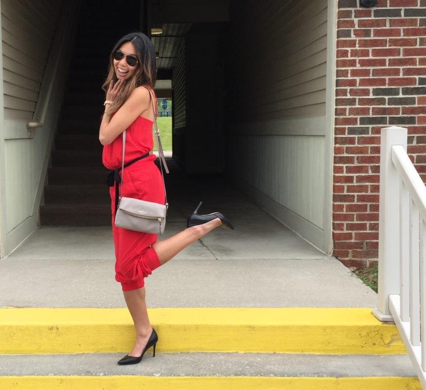 Trend Alert: Red Hot Jumpsuit