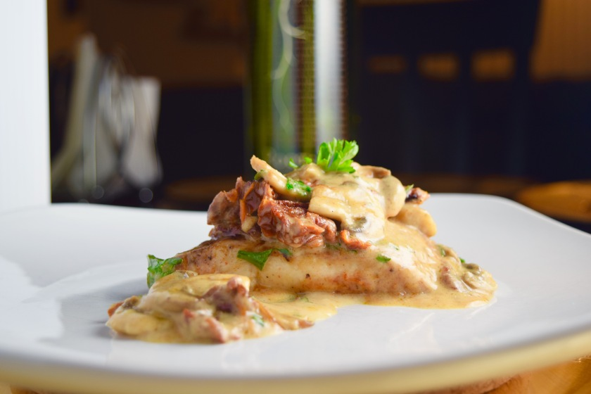 Cajun Sundried Tomato & Mushroom Chicken with Asiago Cream Sauce