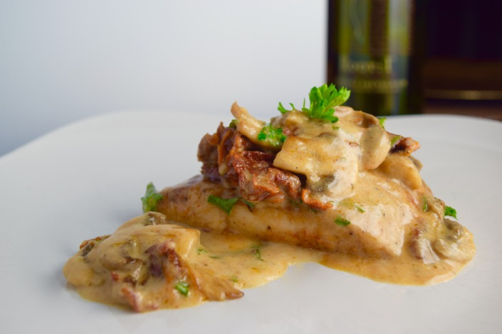 Cajun Sundried Tomato & Mushroom Chicken In Asiago Cream Sauce